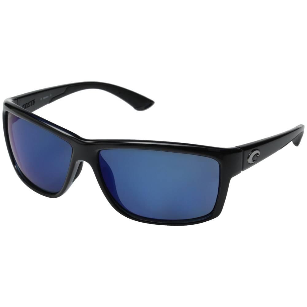 コスタ メンズ ファッション小物 スポーツサングラス【Costa Mag Bay 580 Mirror Plastic】Shiny Black/Blue Mirror 580P Plastic Lens