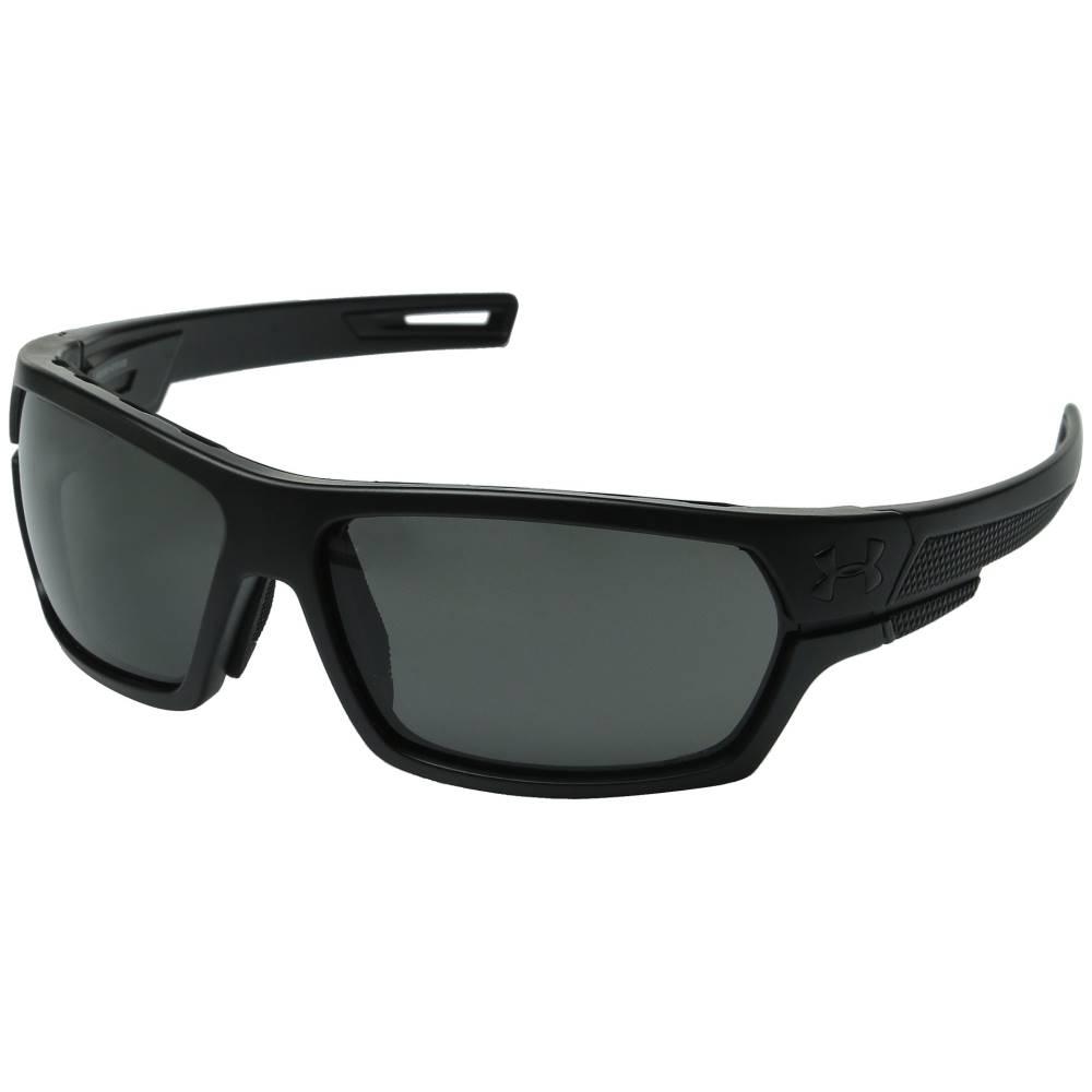 アンダーアーマー メンズ ファッション小物 スポーツサングラス【Battlewrap】Ballistic Satin Black Frame/Gray Lens
