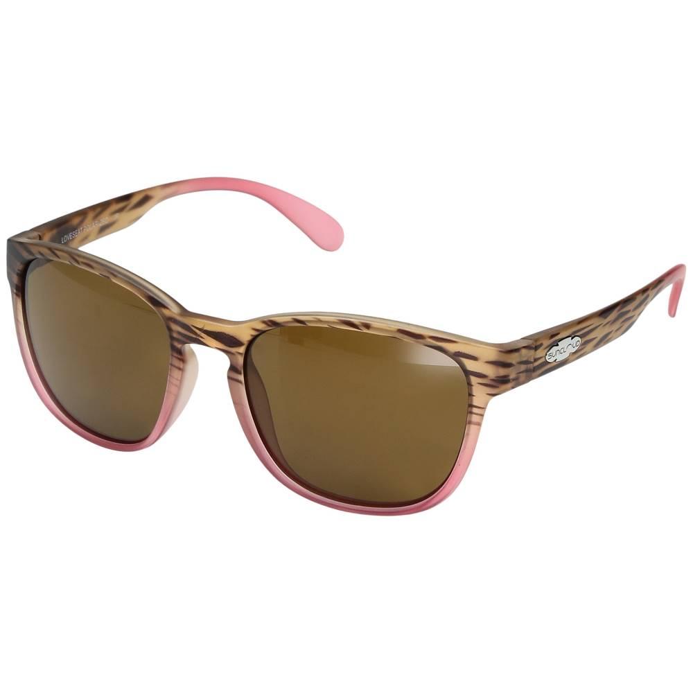 サンクラウド レディース ファッション小物 スポーツサングラス【Loveseat】Matte Tortoise Pink Fade/Polarized Brown Polycarbonate Lens