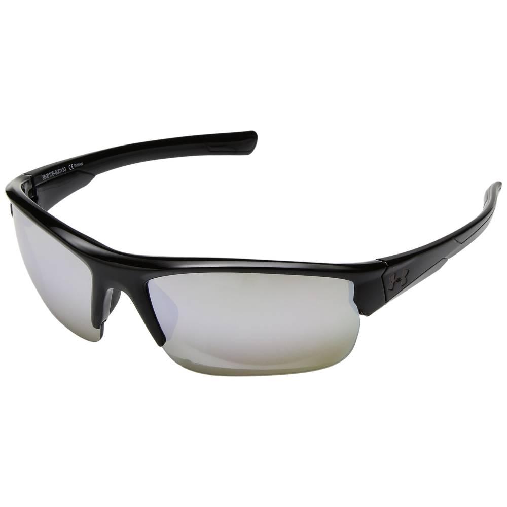 アンダーアーマー メンズ ファッション小物 スポーツサングラス【Propel】Shiny Black/Black Frame/Gameday/Chrome Multiflection Lens