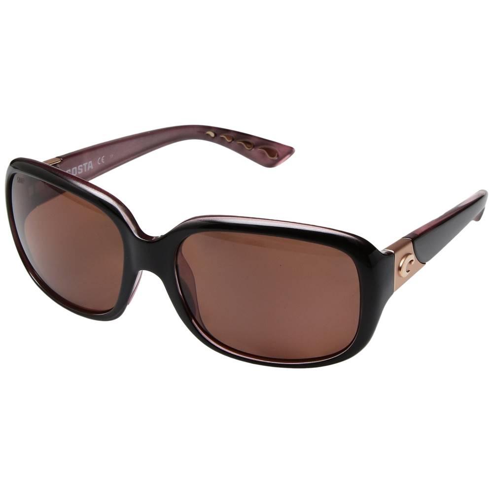コスタ レディース ファッション小物 メガネ・サングラス【Gannet】Shiny Black Hibiscus Frame/Copper 580P