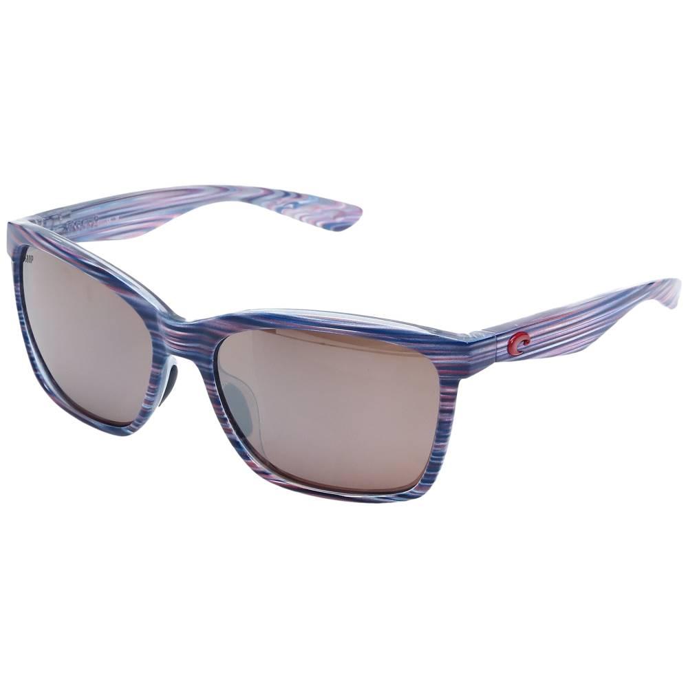 コスタ レディース ファッション小物 メガネ・サングラス【Anaa】USA Teak Frame/Silver Mirror 580P