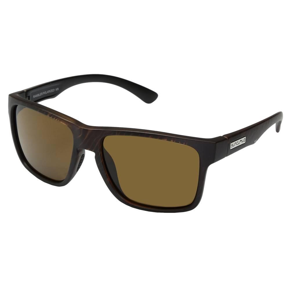 サンクラウド メンズ ファッション小物 スポーツサングラス【Rambler】Blackened Tortoise/Polarized Brown Polycarbonate Lens