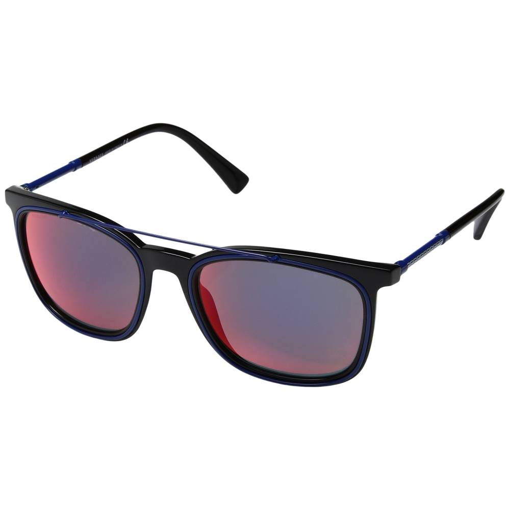 ヴェルサーチ メンズ ファッション小物 メガネ・サングラス【VE4335】Black/Dark Grey Mirror Blue/Red
