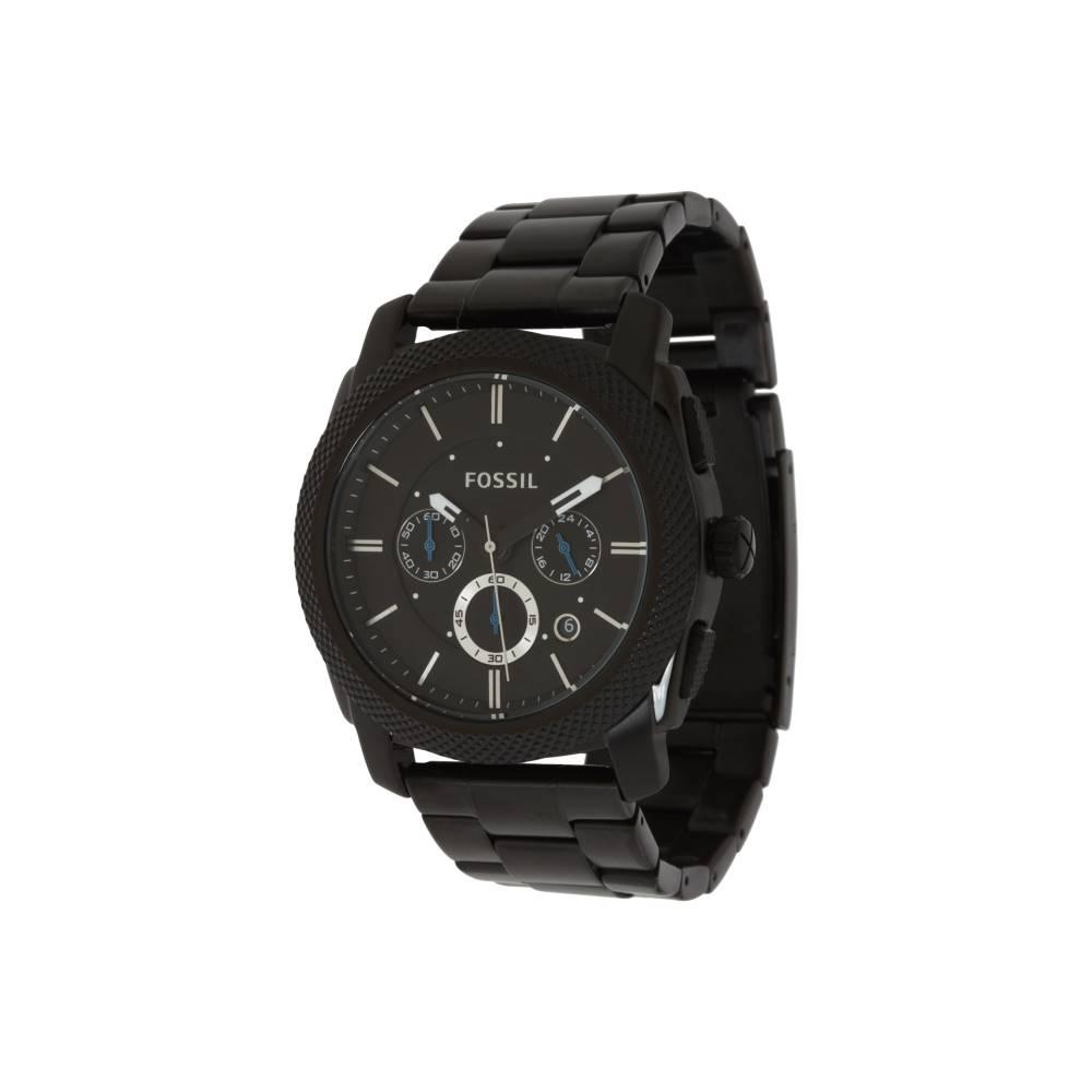 フォッシル メンズ 財布・時計・雑貨 腕時計【Machine - FS4552】Black Stainless Steel/Black