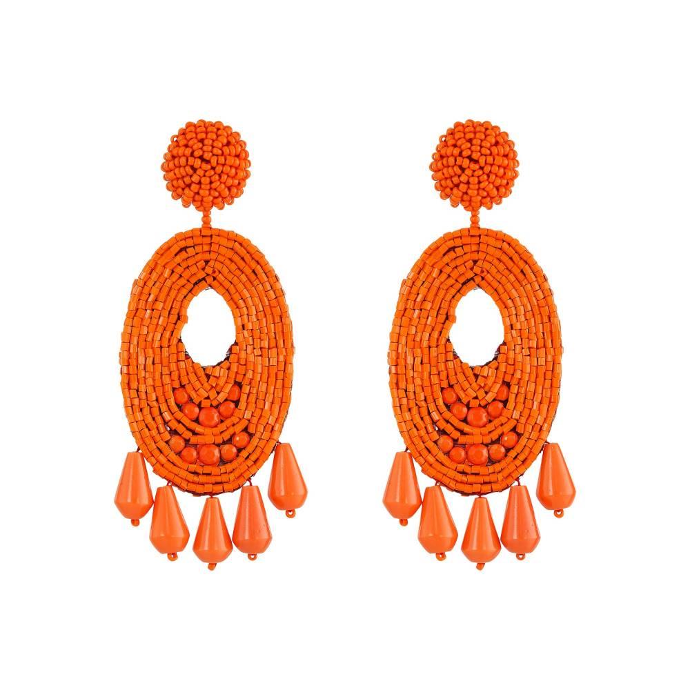 ケネスジェイレーン レディース ジュエリー・アクセサリー イヤリング・ピアス【Oval w/ Drops Round Top Earrings】Light Coral