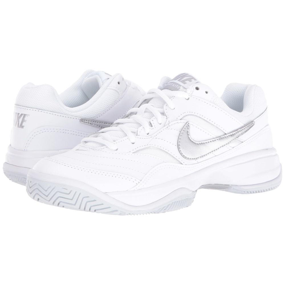 ナイキ レディース テニス シューズ・靴【Court Lite】White/Medium Grey/Matte Silver