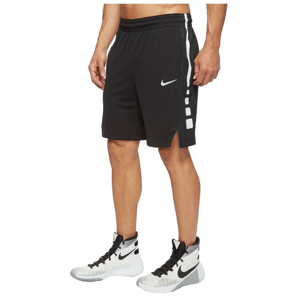 ナイキ メンズ バスケットボール ボトムス・パンツ【Elite Stripe Basketball Short】Black/Black/White/White