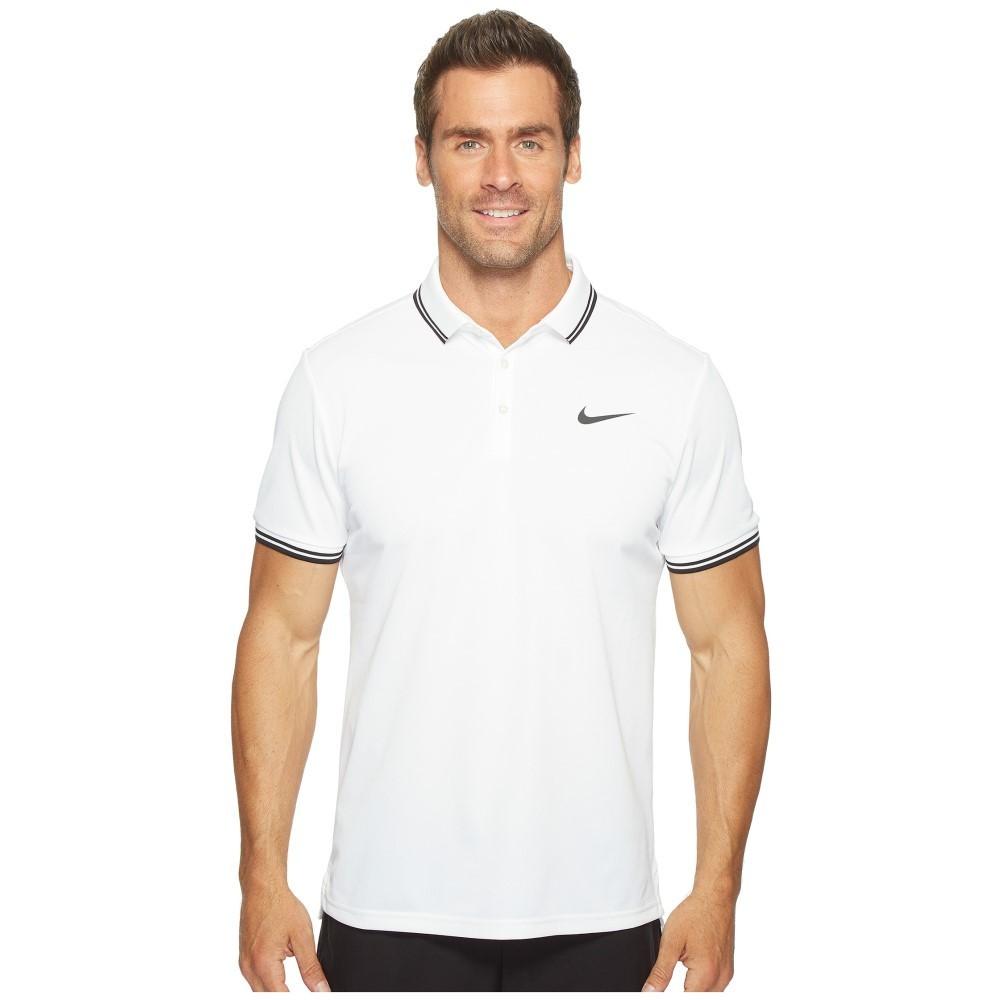 ナイキ メンズ テニス トップス【Court Tennis Polo】White/Black