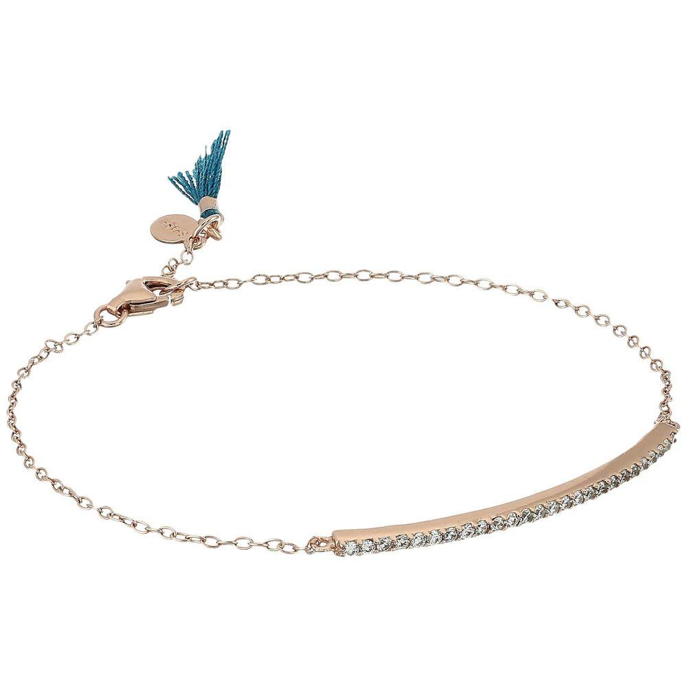 シャシ レディース ジュエリー・アクセサリー ブレスレット【Bar Pave Bracelet】Rose Gold/Crystal