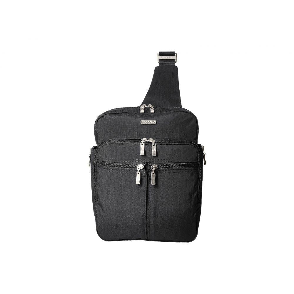 バッガリーニ レディース バッグ バックパック・リュック【Messenger Bag with RFID Wristlet】Charcoal