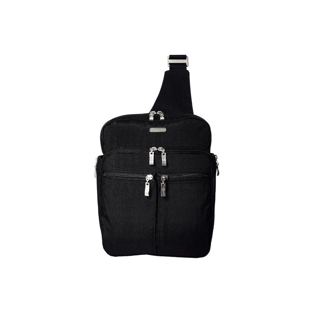 バッガリーニ レディース バッグ バックパック・リュック【Messenger Bag with RFID Wristlet】Black/Sand