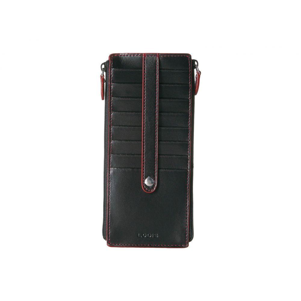 ロディス アクセサリー レディース カードケース・名刺入れ【Audrey RFID Under Lock & Key Double Zip Card Case】Black