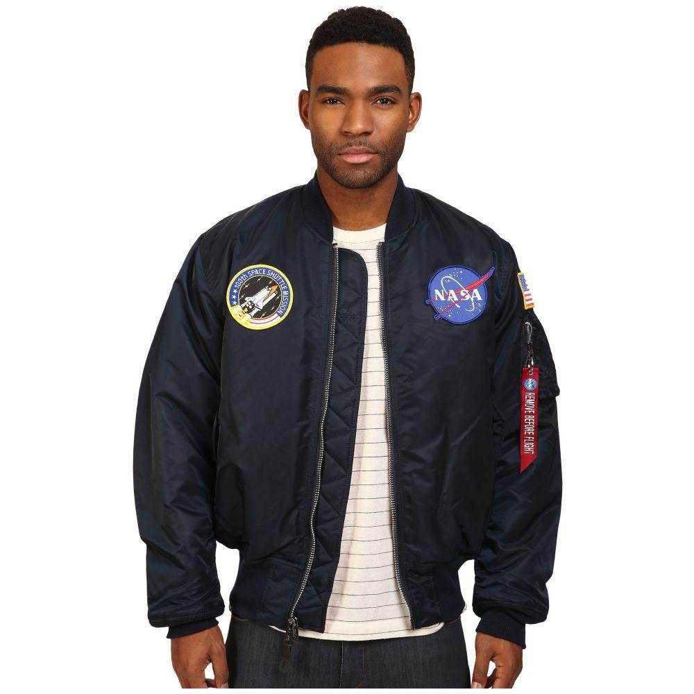 アルファ インダストリーズ メンズ アウター ブルゾン【NASA MA-1 Flight Jacket】Replica Blue