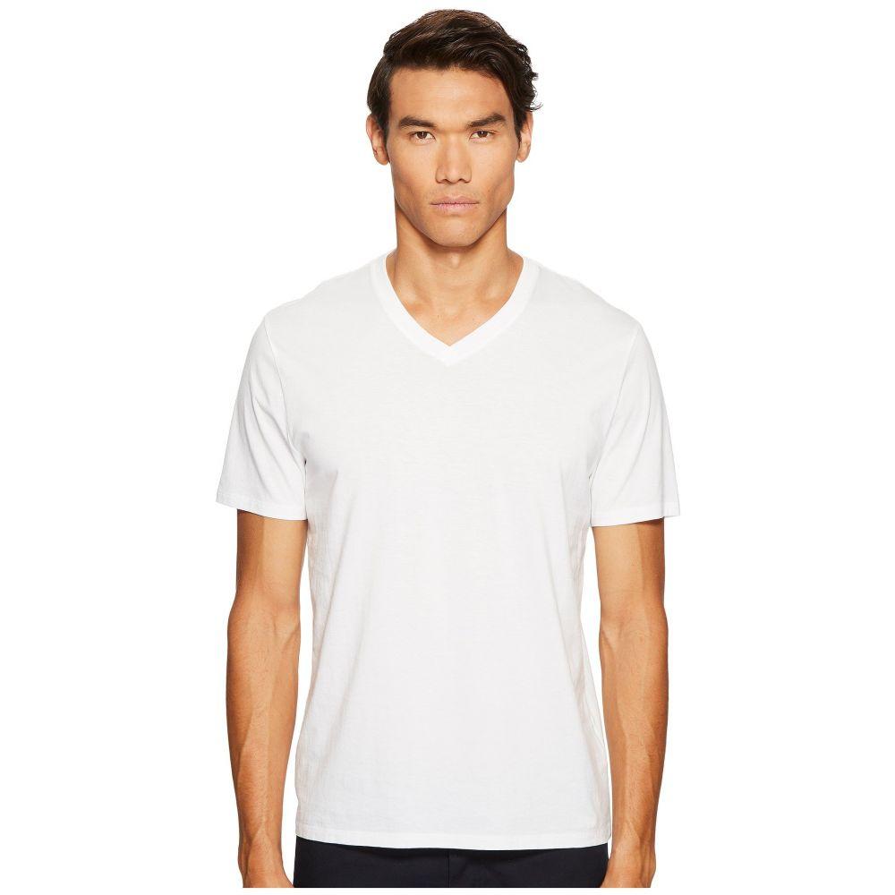 ヴィンス メンズ トップス Tシャツ【Short Sleeve Pima Cotton V-Neck Shirt】Optic White
