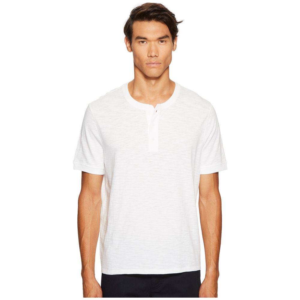 ヴィンス メンズ トップス Tシャツ【Classic Short Sleeve Henley】Optic White