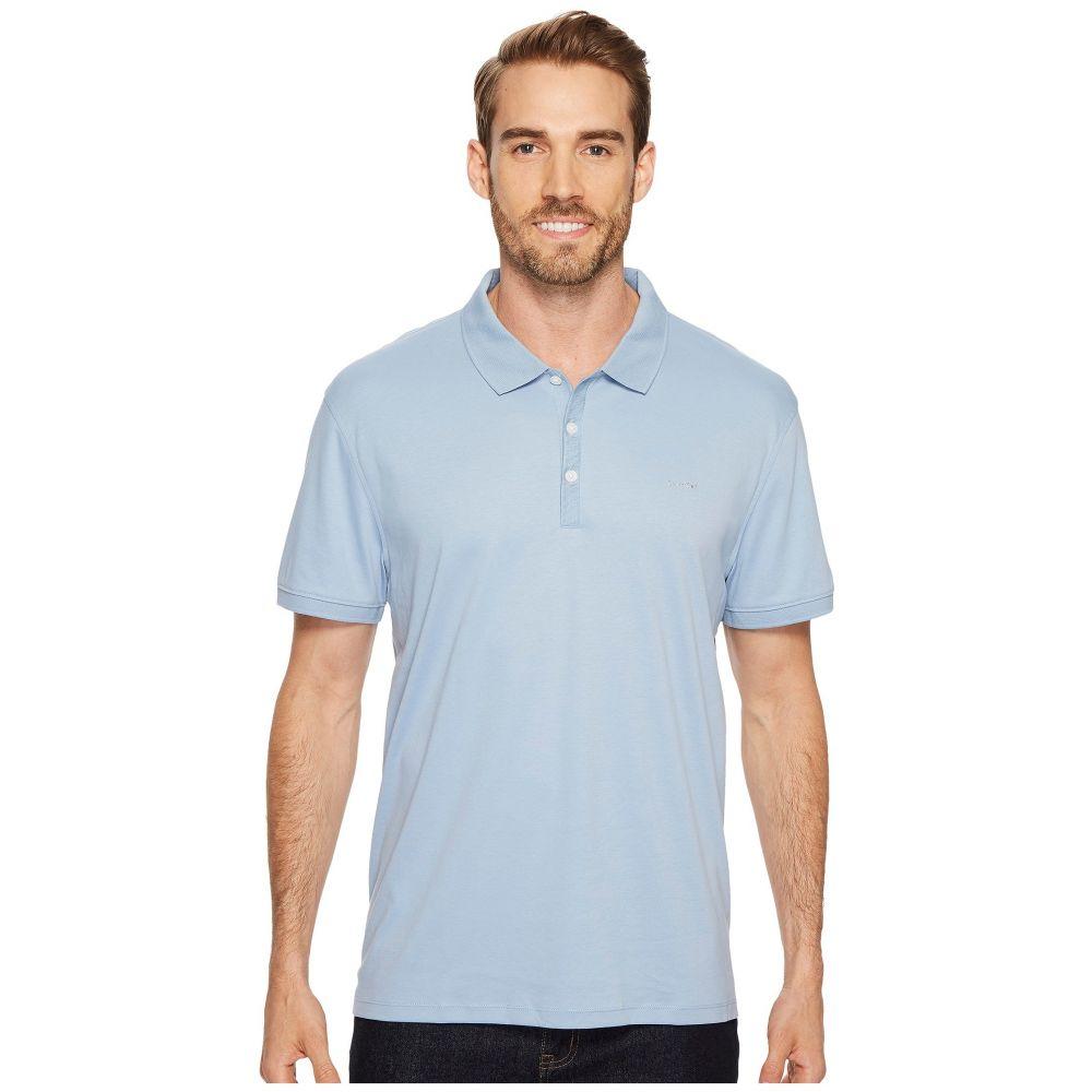 カルバンクライン メンズ トップス ポロシャツ【Liquid Cotton Solid Short Sleeve Polo】Pacific