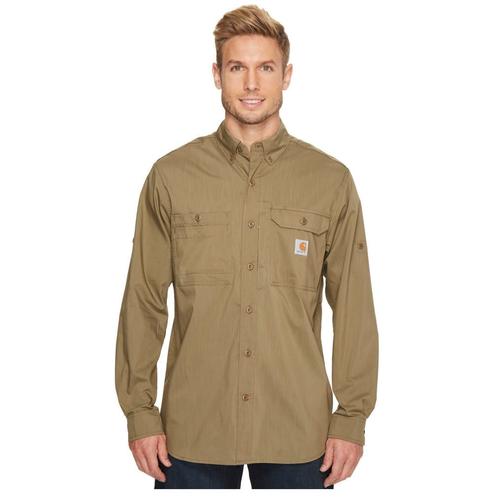 カーハート メンズ トップス シャツ【Force Ridgefield Solid Long Sleeve Shirt】Burnt Olive