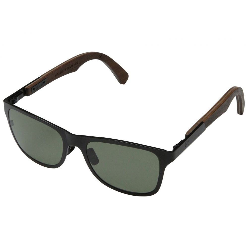 シュウッド メンズ メガネ・サングラス【Canby Titanium - Polarized】Black Titanium// Walnut - G15 Polarized