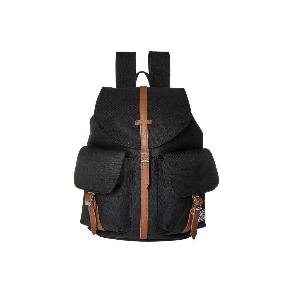 ハーシェル サプライ メンズ バッグ バックパック・リュック【Dawson X-Small】Black/Tan Synthetic Leather
