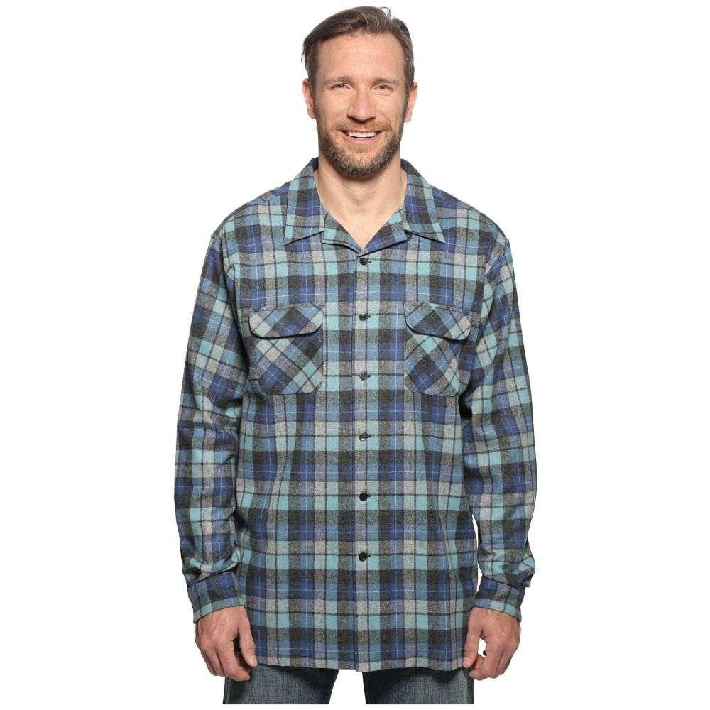 ペンドルトン メンズ トップス シャツ【L/S Board Shirt (Tall)】Blue/Green Original Surf Plaid