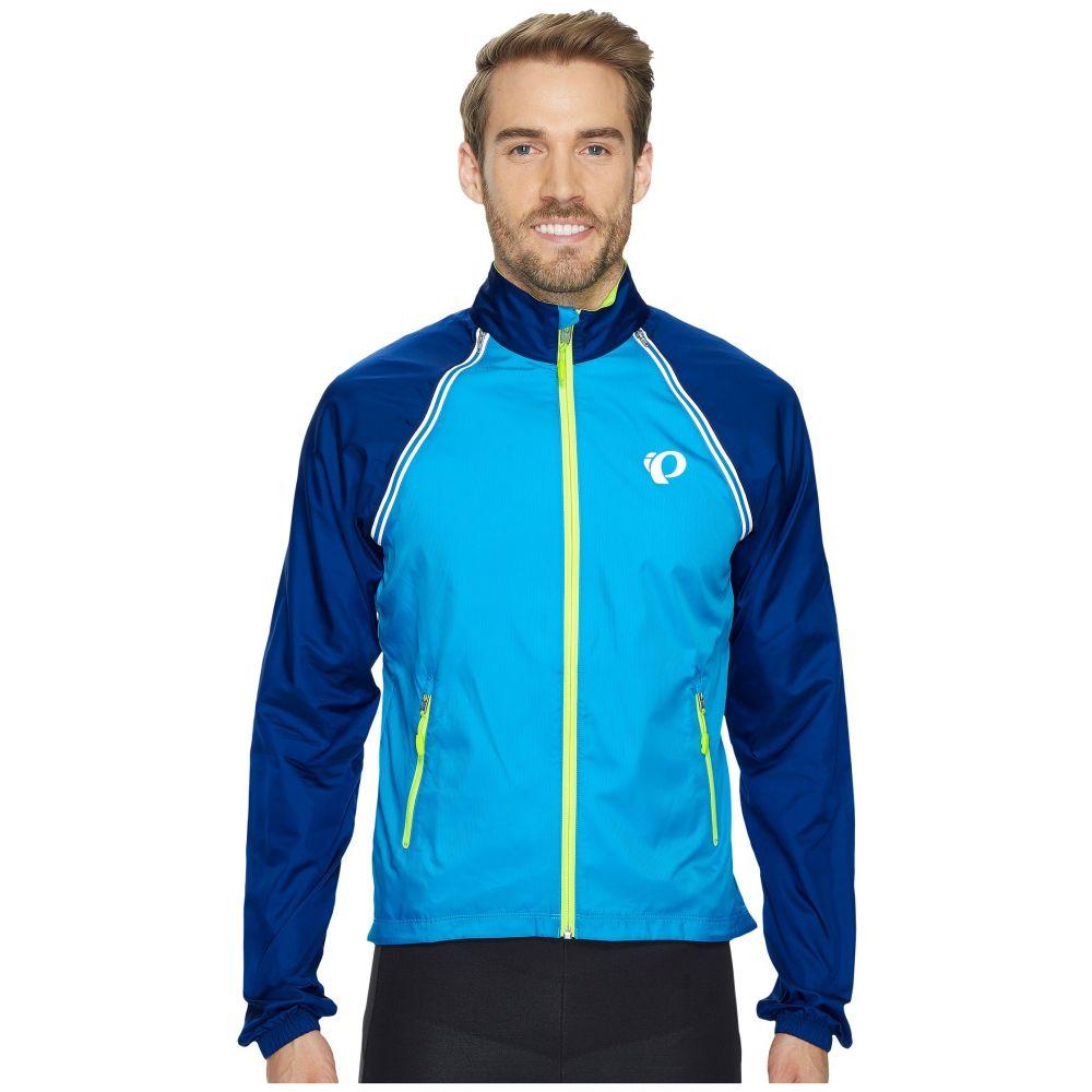 パールイズミ メンズ 自転車 アウター【Elite Barrier Convertible Cycling Jacket】Blue Depths/Bel Air Blue