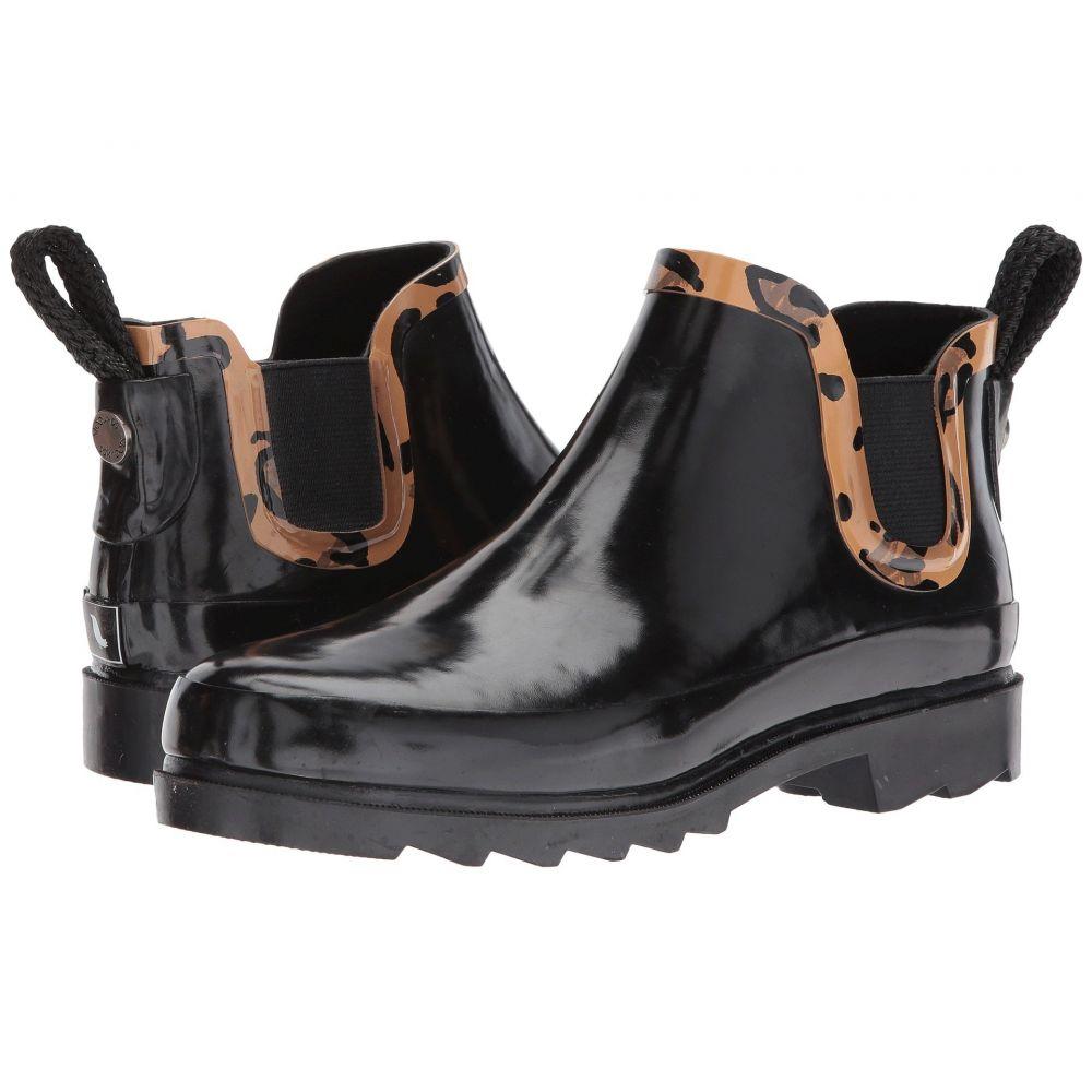 サックルーツ レディース シューズ・靴 レインシューズ・長靴【Rhyme】Black/Natural Leopard