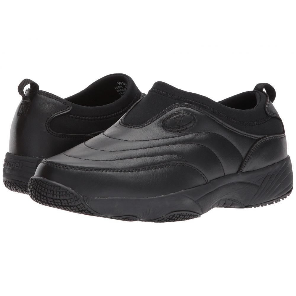 プロペット レディース シューズ・靴 スリッポン・フラット【Wash & Wear Slip-On II】Black Leather