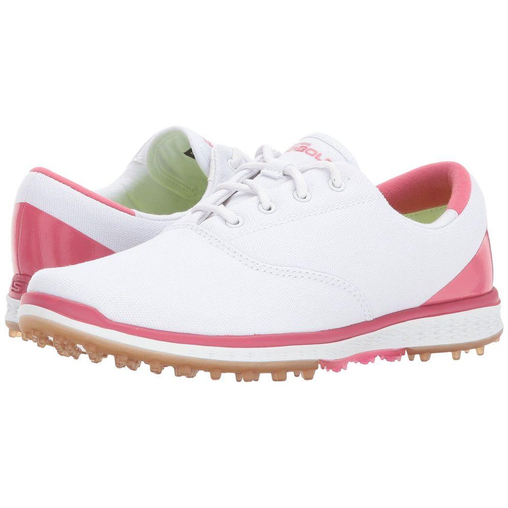スケッチャーズ レディース ゴルフ シューズ・靴【GO GOLF - Elite 2】White/Pink
