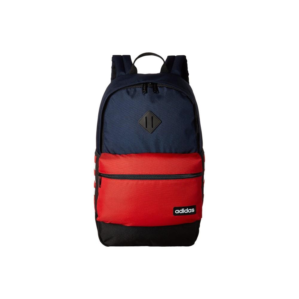 アディダス レディース バッグ バックパック・リュック【Classic 3S Backpack】Collegiate Navy/Scarlet/Neo White