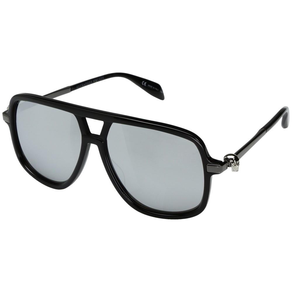 アレキサンダー マックイーン メンズ メガネ・サングラス【AM0080S】Black/Ruthenium Silver