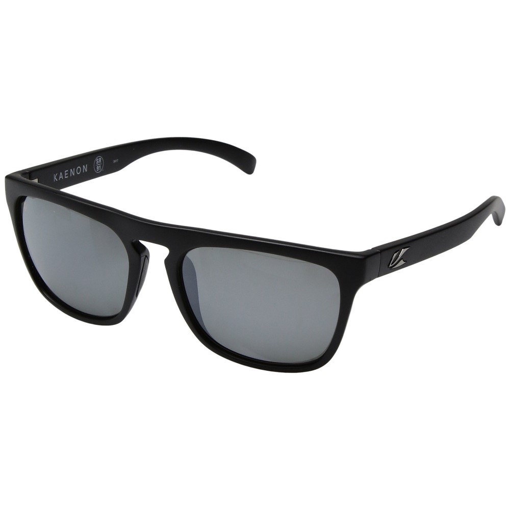 カエノン メンズ メガネ・サングラス【Leadbetter】Black Label/Grey 12 Polarized Black Mirror