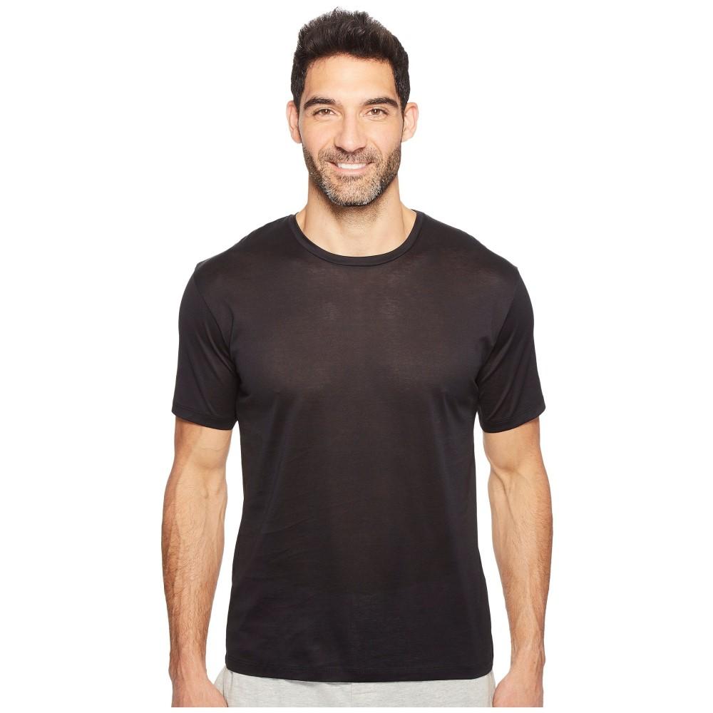 ハンロ メンズ トップス Tシャツ【Cotton Sporty Short Sleeve Shirt】Black