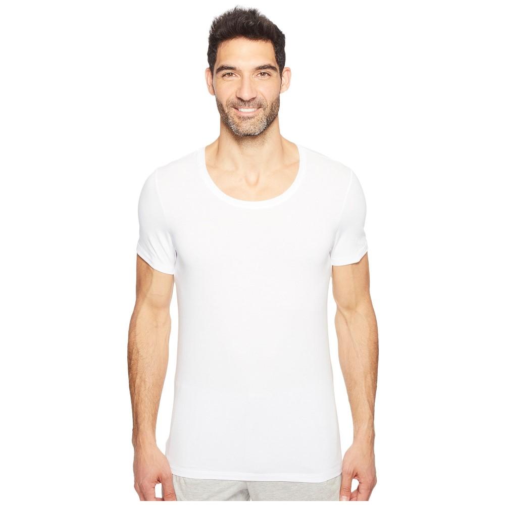 ハンロ メンズ トップス Tシャツ【Cotton Superior Short Sleeve Crew Neck Shirt】White