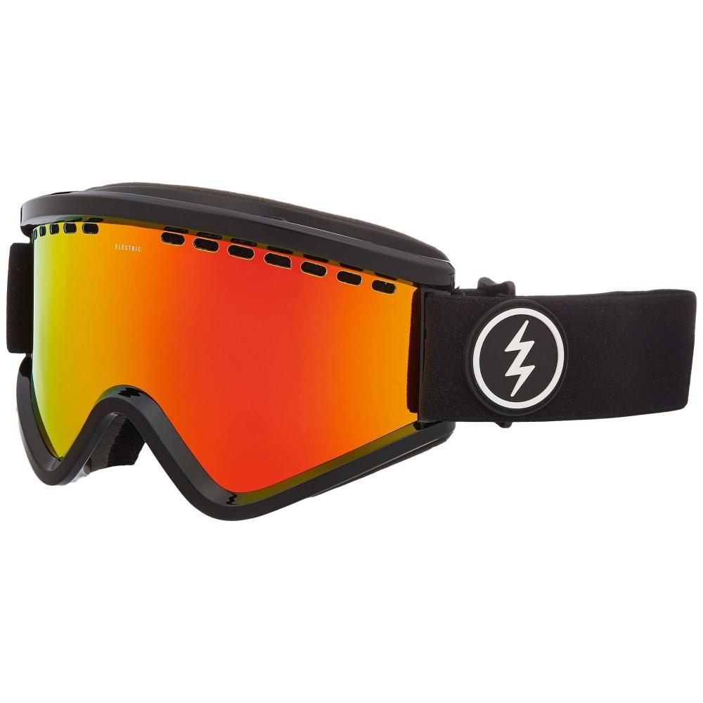 エレクトリック レディース スキー・スノーボード ゴーグル【EGV】Gloss Black Frame/Brose Red Chrome Lens
