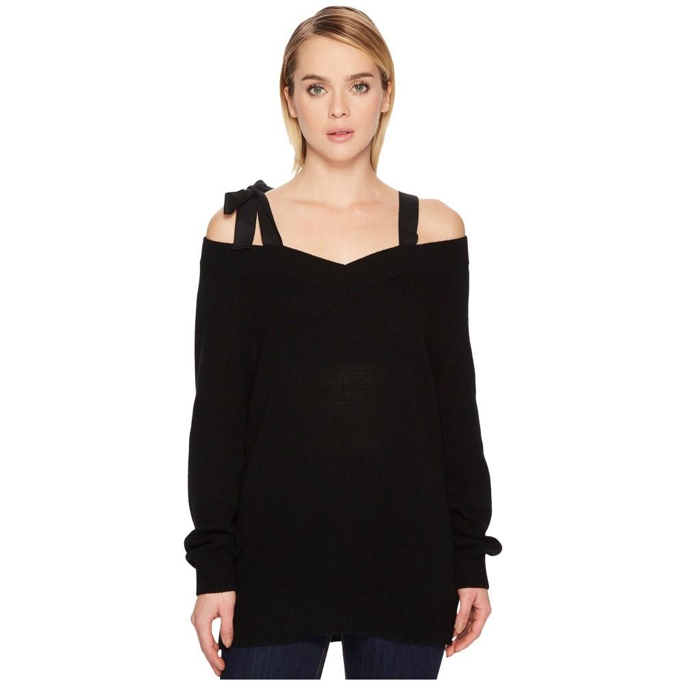 ヴァレンティノ レディース トップス ニット・セーター【Sweater with Grosgrain Bow】Black