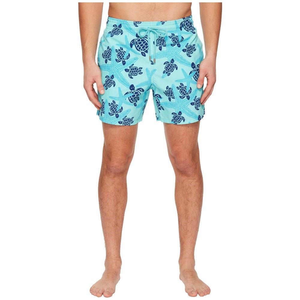 ヴィルブレクイン メンズ 水着・ビーチウェア 海パン【Moorea Stars and Turtles Swim Trunk】Lagoon
