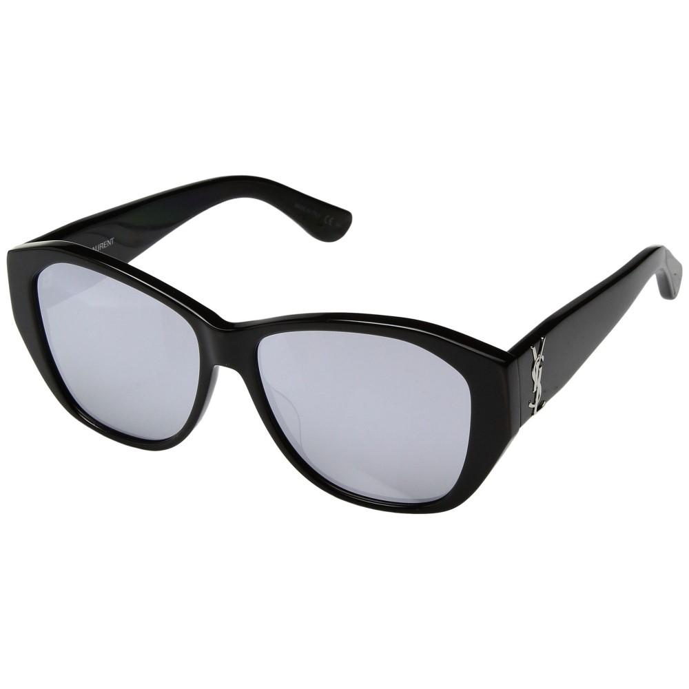 イヴ サンローラン レディース メガネ・サングラス【SL M8】Black/Mirror Extra White Lens