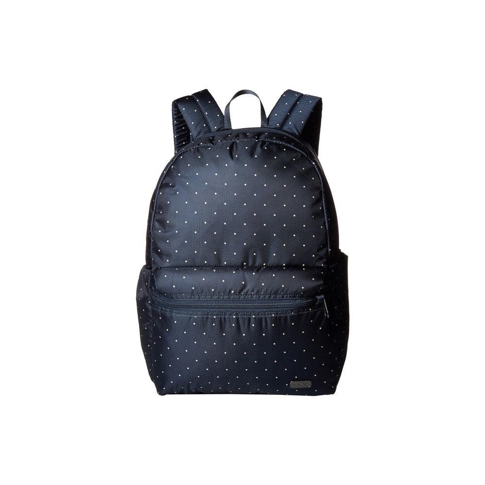 パックセイフ レディース バッグ バックパック・リュック【Daysafe Anti-Theft Backpack】Navy Polka Dot
