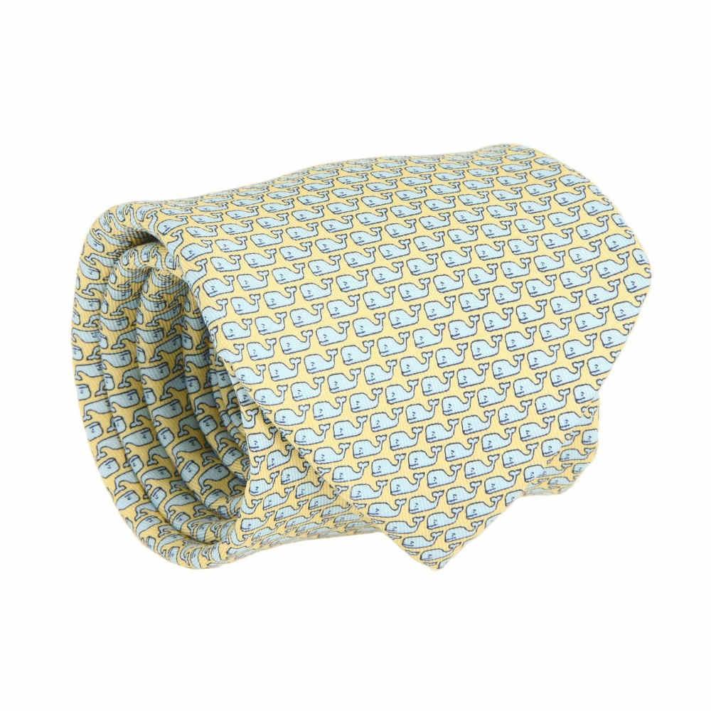ヴィニヤードヴァインズ メンズ ネクタイ【Vineyard Whale Silk Tie】Yellow