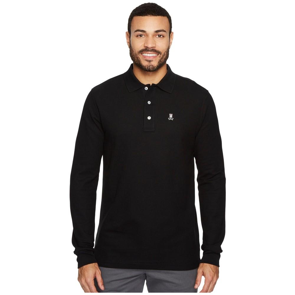 サイコバニー メンズ トップス ポロシャツ【Long Sleeve Classic Polo】Black