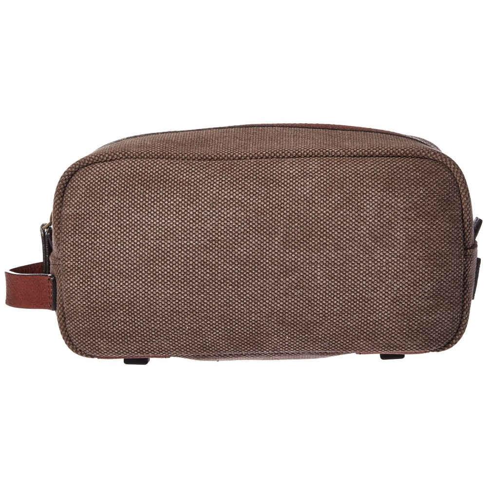 ボスカ メンズ ポーチ【Washed Leather Collection - Shave Kit】Brown/Dark Brown