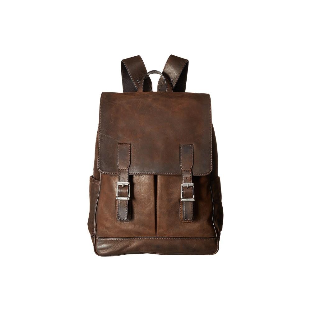 フライ メンズ バッグ バックパック バッグ・リュック【Oliver メンズ Backpack】Dark Brown Brown Smooth Pull-Up, SHANKARA:25d8404b --- acee.org.ar
