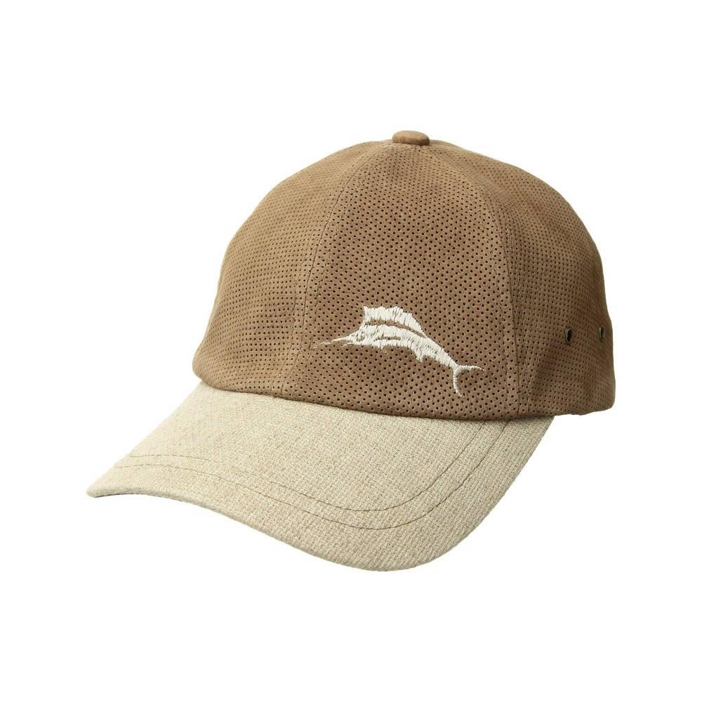 トミー バハマ メンズ 帽子 キャップ【Perforated Leather Cap】Natural