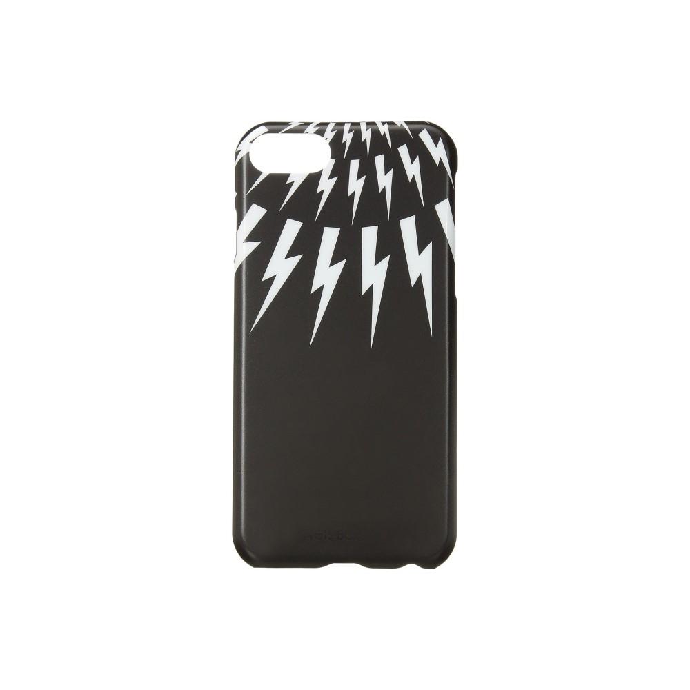 ニール バレット メンズ iPhone (7)ケース【Thunderbolt Fair Isle iPhone 7 Case】Black/White