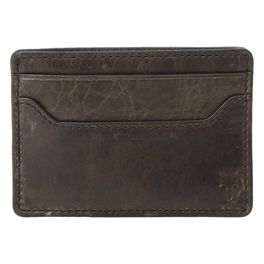 フライ メンズ カードケース・名刺入れ【Logan Money Clip Card Case】Slate Antique Pull-Up