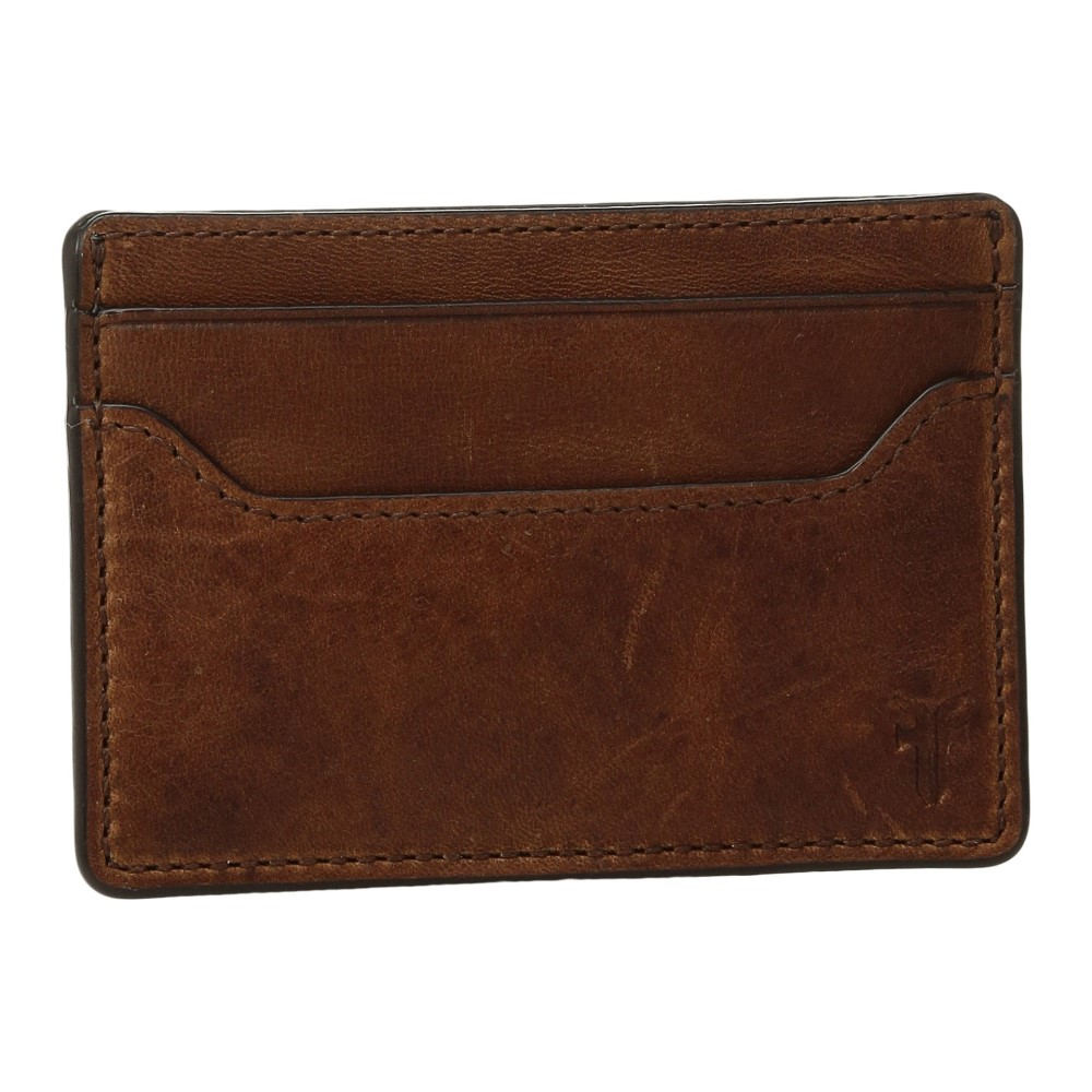 フライ メンズ カードケース・名刺入れ【Logan Money Clip Card Case】Cognac Antique Pull-Up