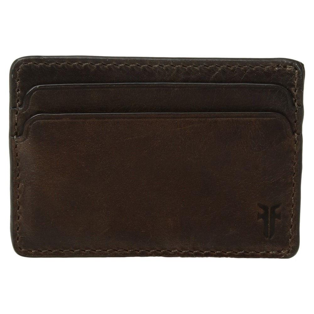 フライ メンズ カードケース・名刺入れ【Oliver ID Card Case】Dark Brown Smooth Pull-Up