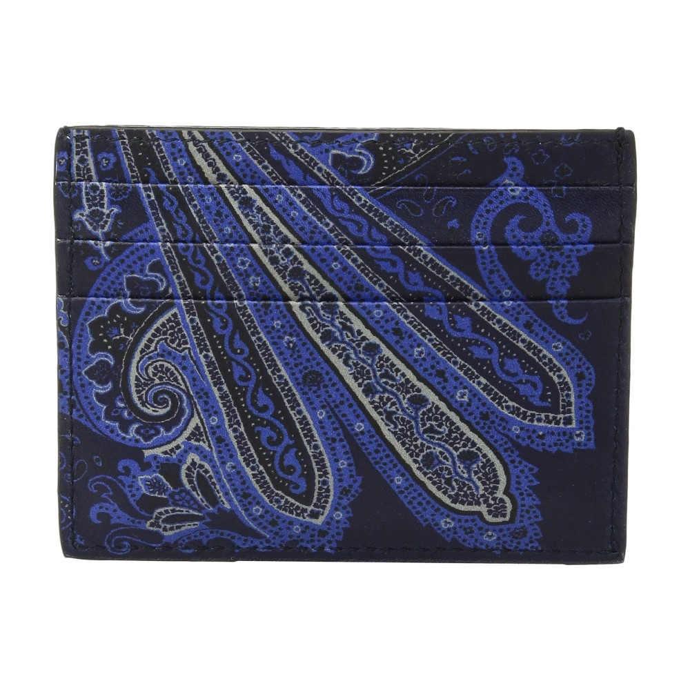 エトロ メンズ カードケース・名刺入れ【Paisley Card Holder】Blue