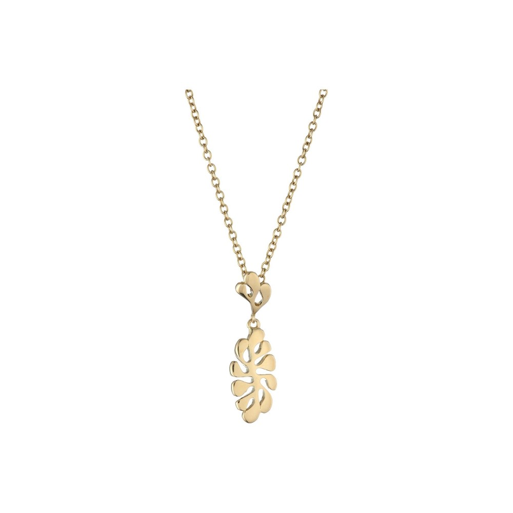 sea leaf sea leaf pendant necklaceyellow gold mozeypictures Choice Image